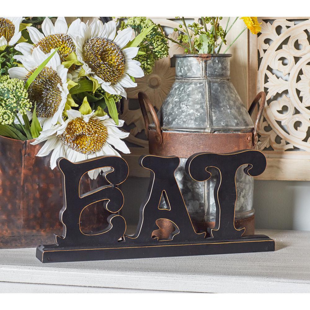 Indoor EAT Wooden Decorative Sign