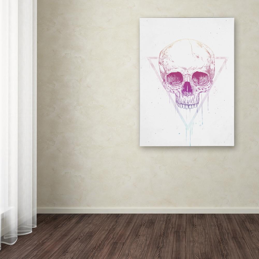 "Trademark 47 in. x 35 in. ""Skull In Triangle"" by Balazs S..."