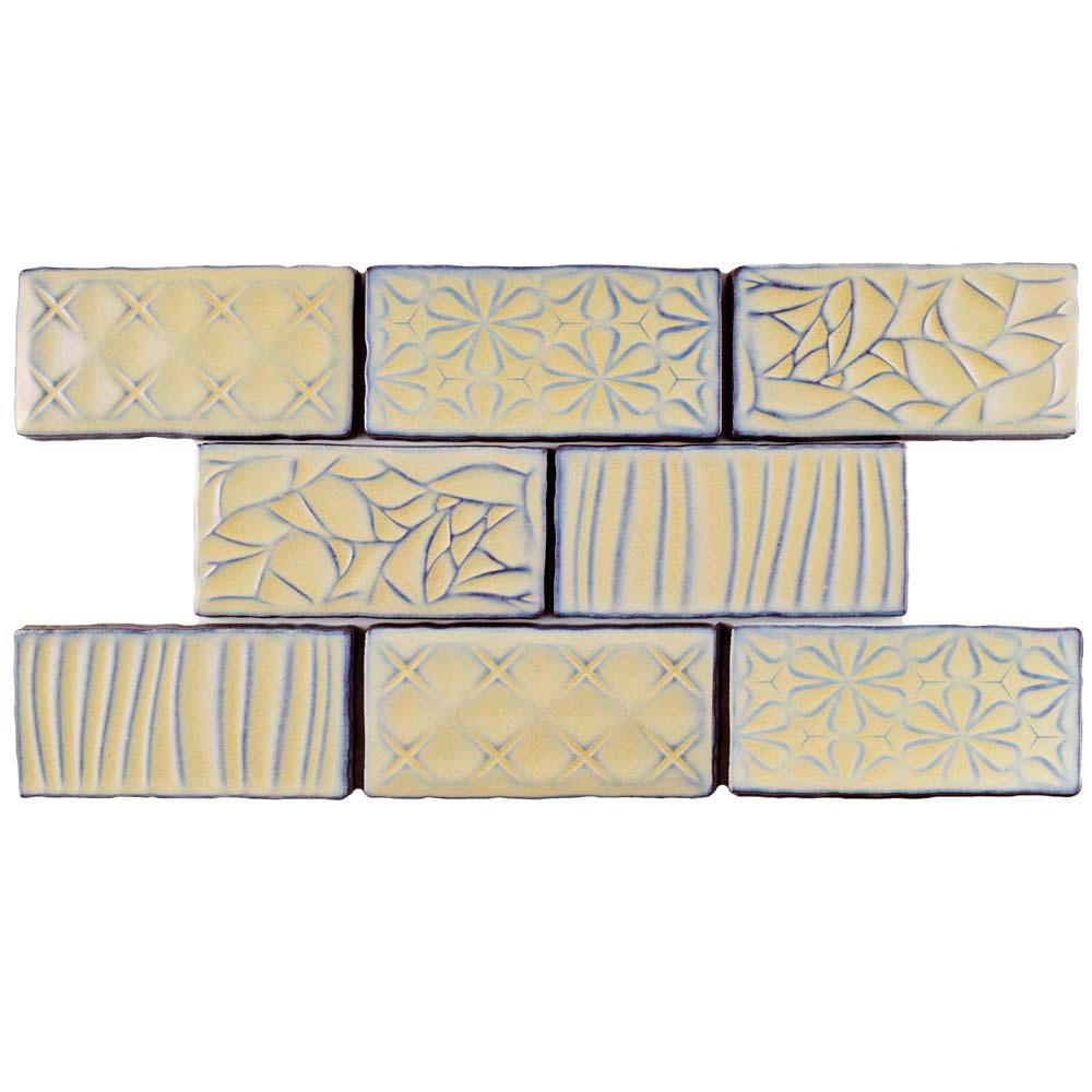 Antic Sensations Pergamon 3 in. x 6 in. Ceramic Wall Tile