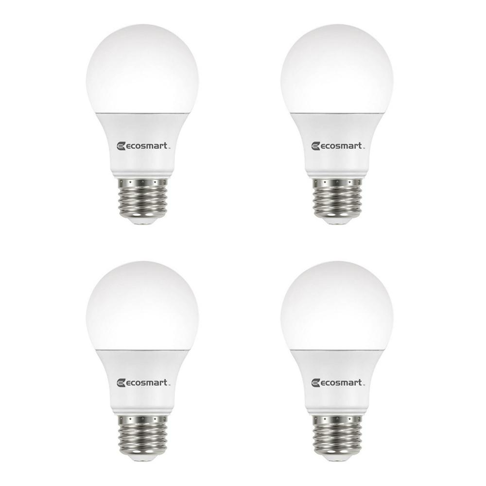 ecosmart 60 watt equivalent a19 dimmable bright white energy star