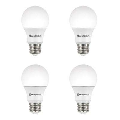 60-Watt Equivalent A19 Dimmable Energy Star LED Light Bulb, Bright White (4-Pack)