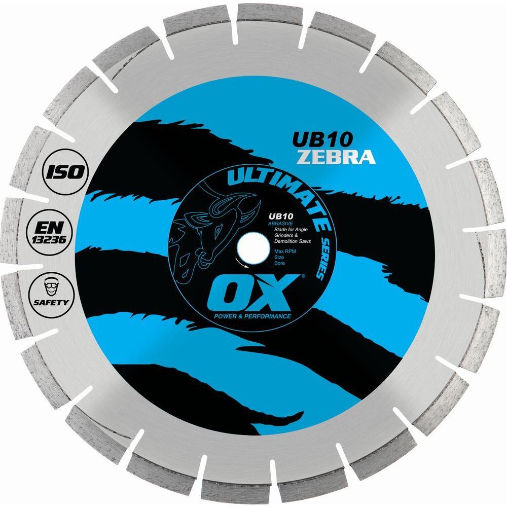 OX Ultimate Abrasive 7/8 in. - 5/8 in. Bore 4.5 in. Diamond Blade