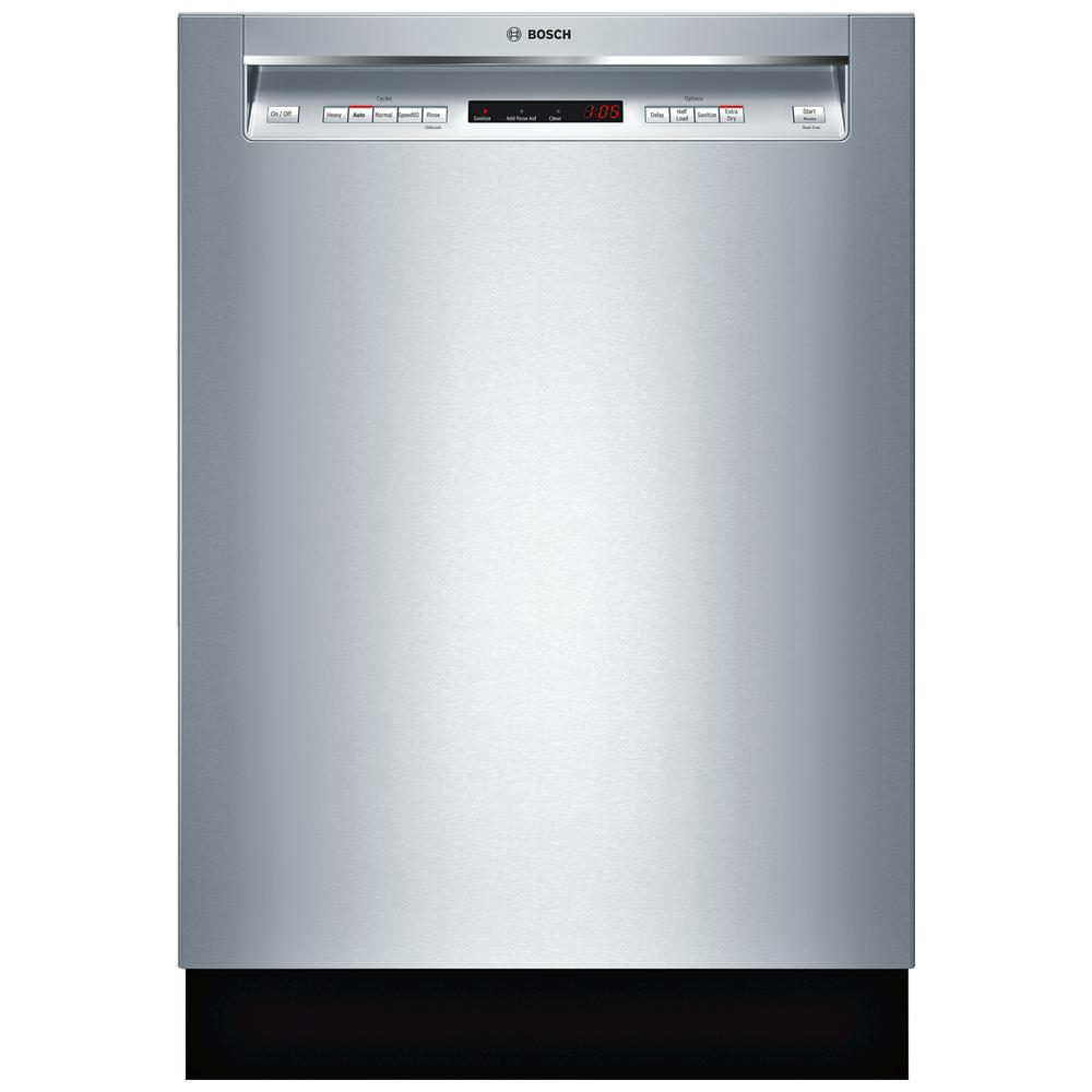 300 Series Front Control Tall Tub Dishwasher in Stainless Steel with