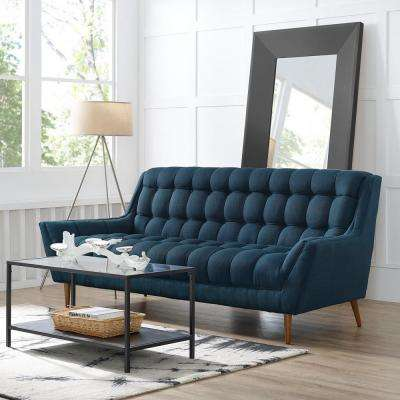 Response Azure Upholstered Fabric Sofa