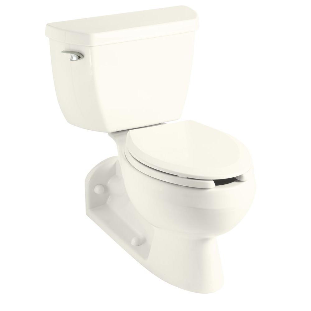 KOHLER Barrington 4 in. Rough-In 2-piece 1.6 GPF Single Flush Elongated Toilet in Biscuit