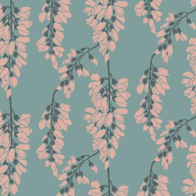 Nomad Collection Heart Breaker in Juniper Removable and Repositionable Wallpaper