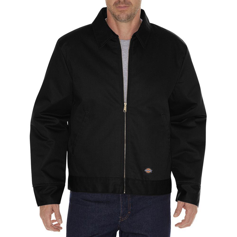 Men Large Insulated Eisenhower Black Jacket