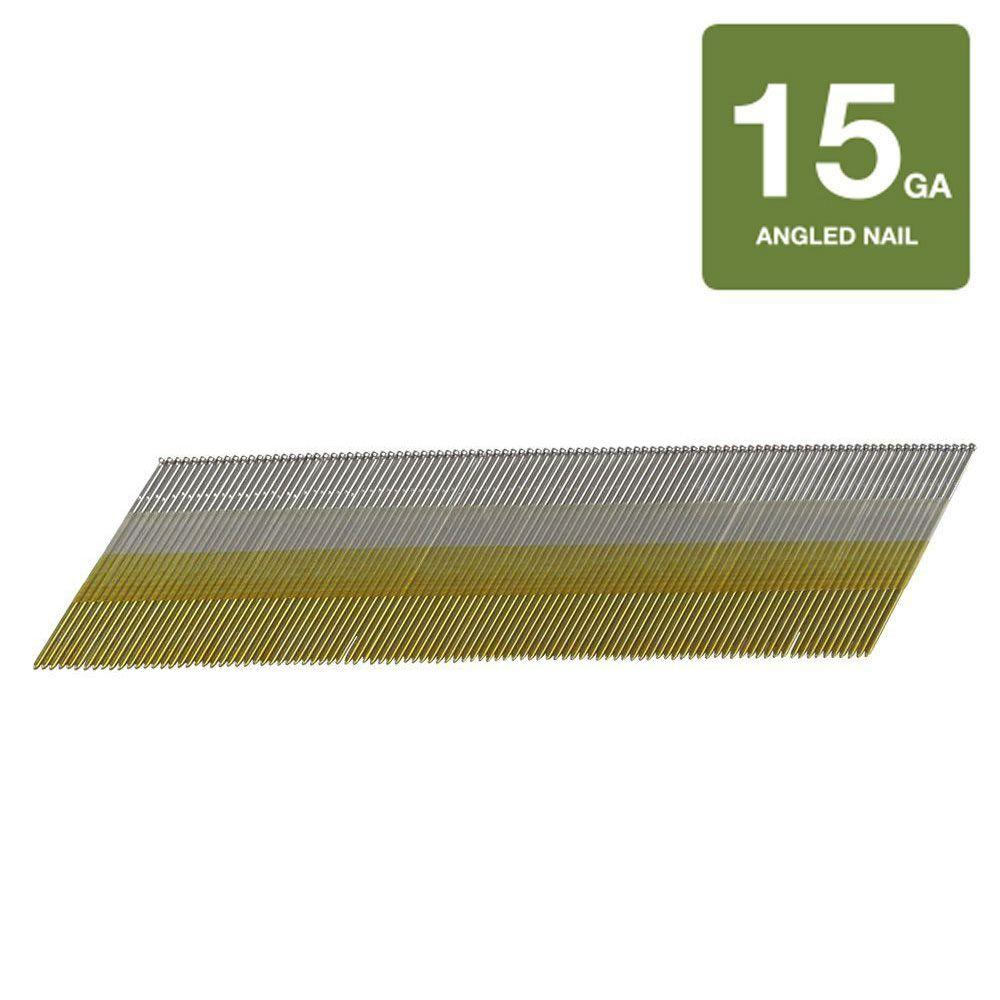 Hitachi 2-1/4 in. x 15-Guage Stainless Steel Angled Finish Nails (4,000-Pack)