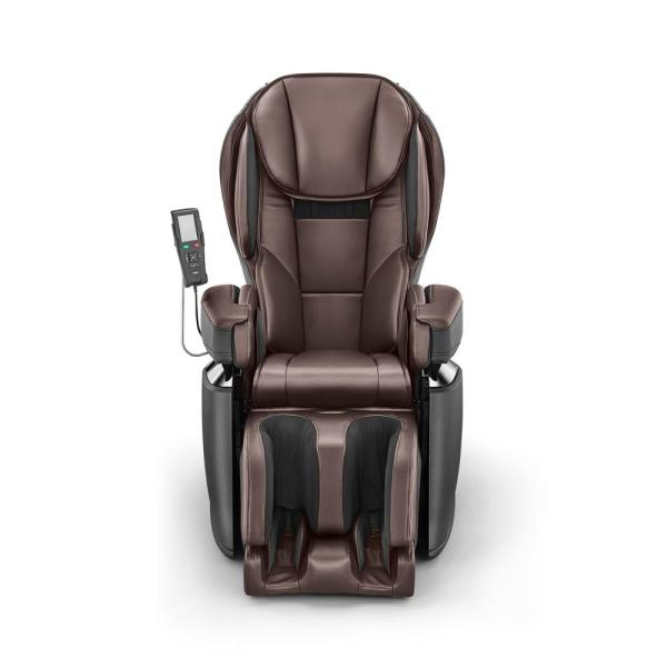 Brown Modern Synthetic Leather Premium Made in Japan 4D Massage Chair
