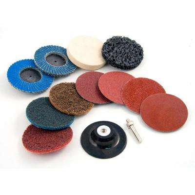 Industrial 2 in. Twist-Lock Surface Conditioning Kit (12-Piece)