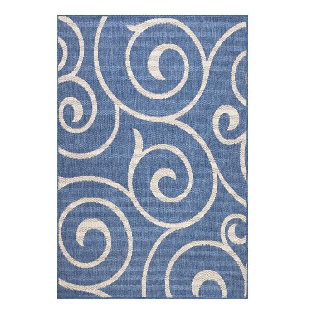 Home Decorators Collection Whirl Blue Champagne 8 ft x 11