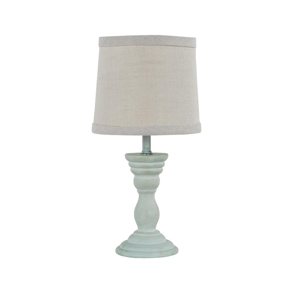 Homestyle 12 In. Spa Blue Table Lamp-L2158BL-UP1