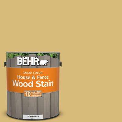 1 gal. #SC-139 Colonial Yellow Solid Color House and Fence Wood Stain