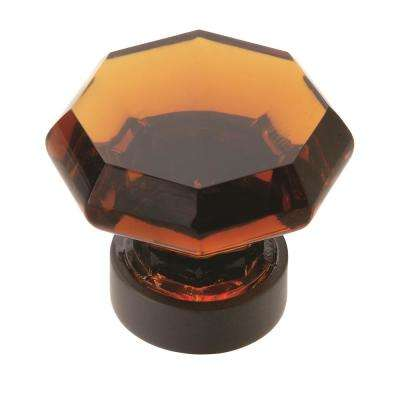 Traditional Classics 1-5/16 in (33 mm) Diameter Amber/Black Bronze Cabinet Knob