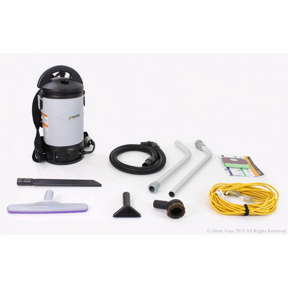 ProTeam New Sierra Commercial Backpack Vacuum Cleaner wit...