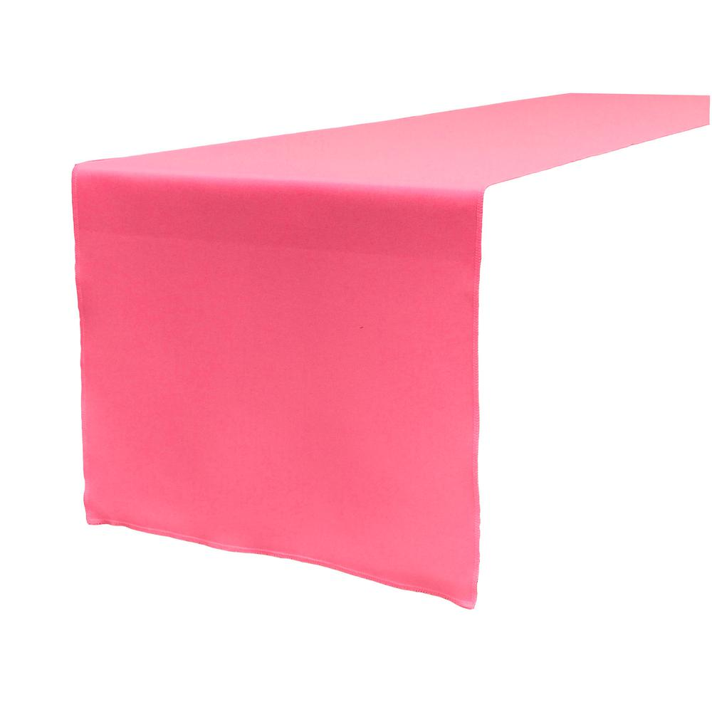14 in. x 108 in. Hot Pink Polyester Poplin Table Runner