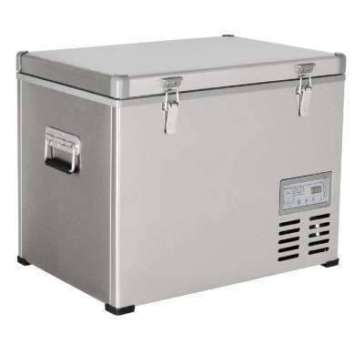 1.6 cu. ft. 47 qt. Portable Refrigerator/Freezer Stainless Steel