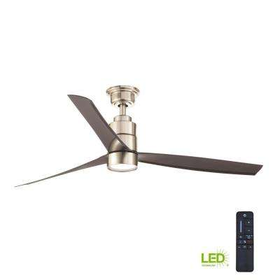 Cirino 52 in. LED Brushed Nickel Ceiling Fan