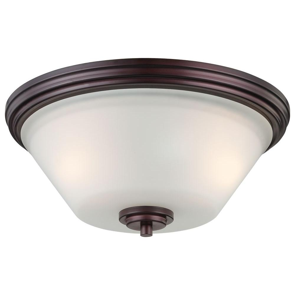 Pittman 2-Light Sienna Bronze Ceiling Flushmount