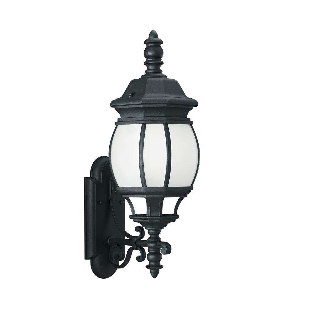 Wynfield 1-Light Black Outdoor Wall Mount Lantern
