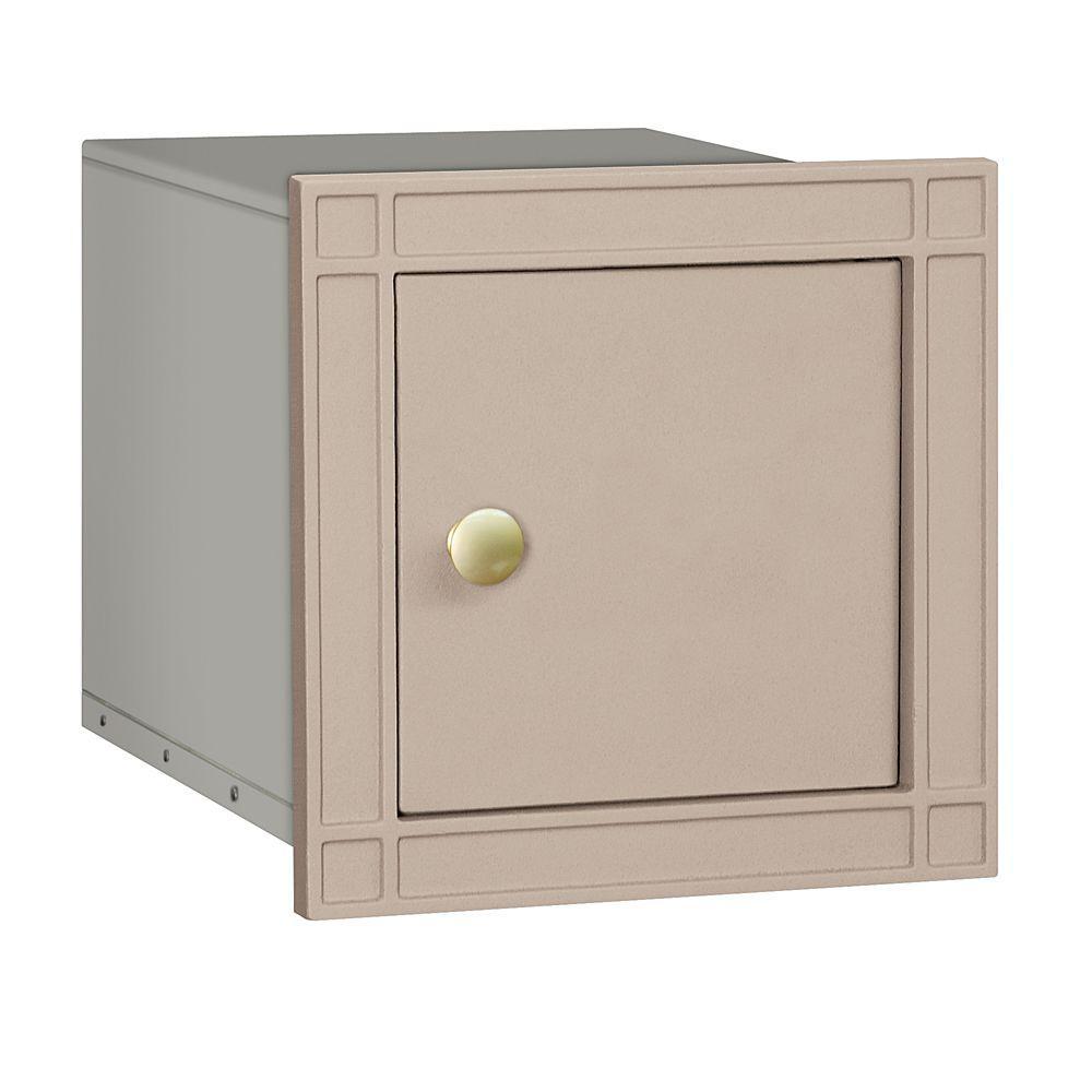 4100 Series 11.5 in. W x 11.5 in. H x 15.75 in. D Beige Non-Locking Plain Door Cast Aluminum Column Mailbox
