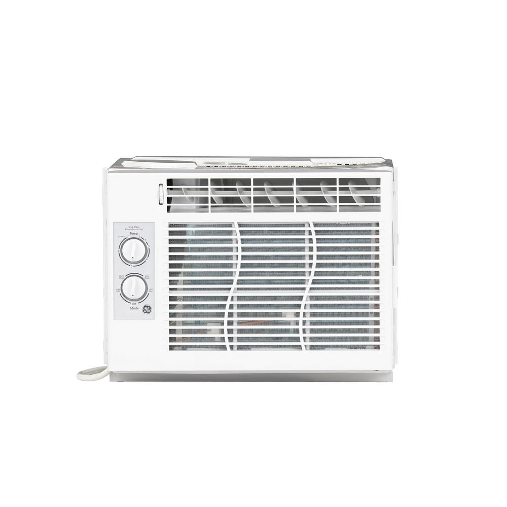 GE 5,000 BTU 115-Volt Room Window Air Conditioner in White on