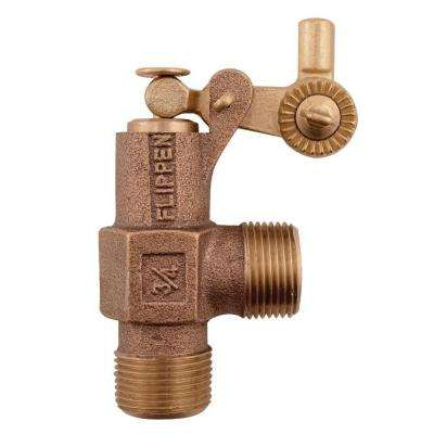 3/4 in. x 3/4 in. Bronze MIP x MIP Standard Duty Float Valve