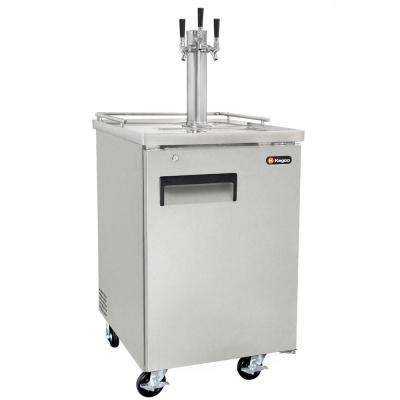 Commercial Grade Full Size Beer Keg Dispenser with Triple Faucet Tower
