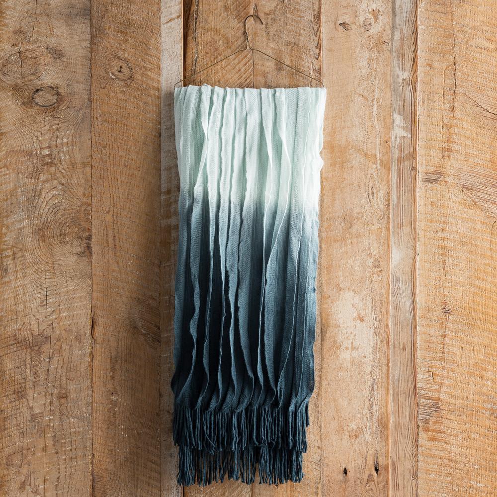 Vivica Teal Acrylic Throw