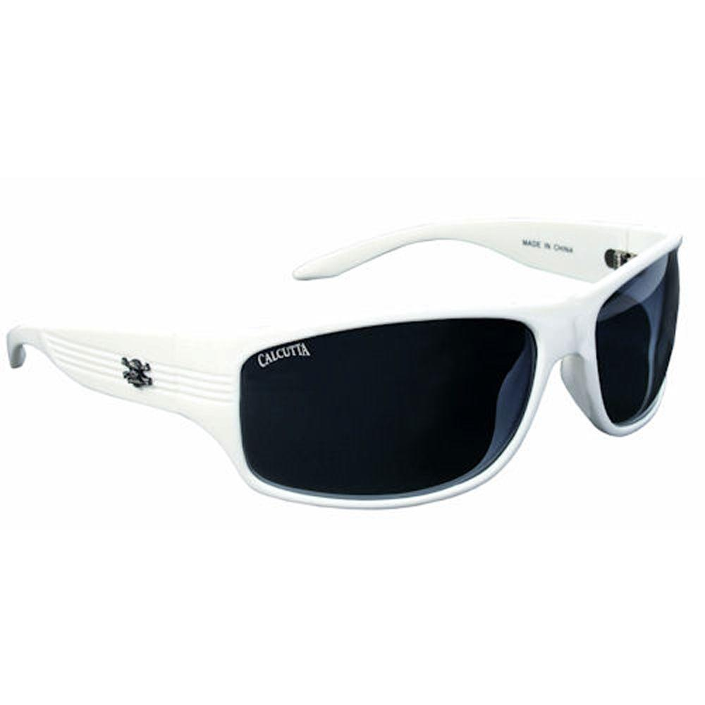 null White Frame Express Sunglasses with Lenses in Gray