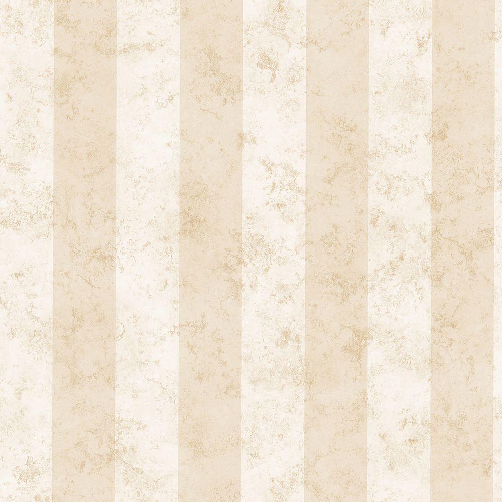 Rockland Cream Marble Stripe Cream Wallpaper Sample