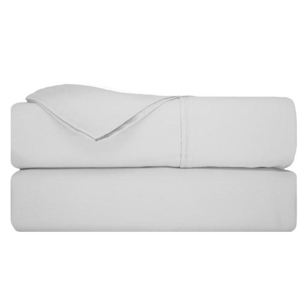 Nouvelle Home Pinnacle 1400 Thread Count CVC 6-Piece White King Sheet