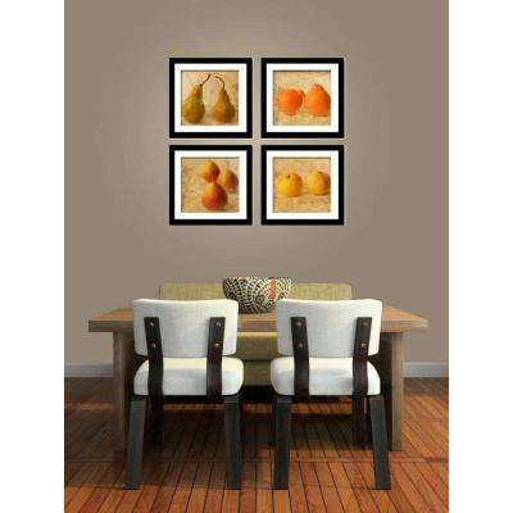 "Four 10 in. x 10 in. ""Fruit Art"" by Neeva Kedem Framed Printed Wall Art"