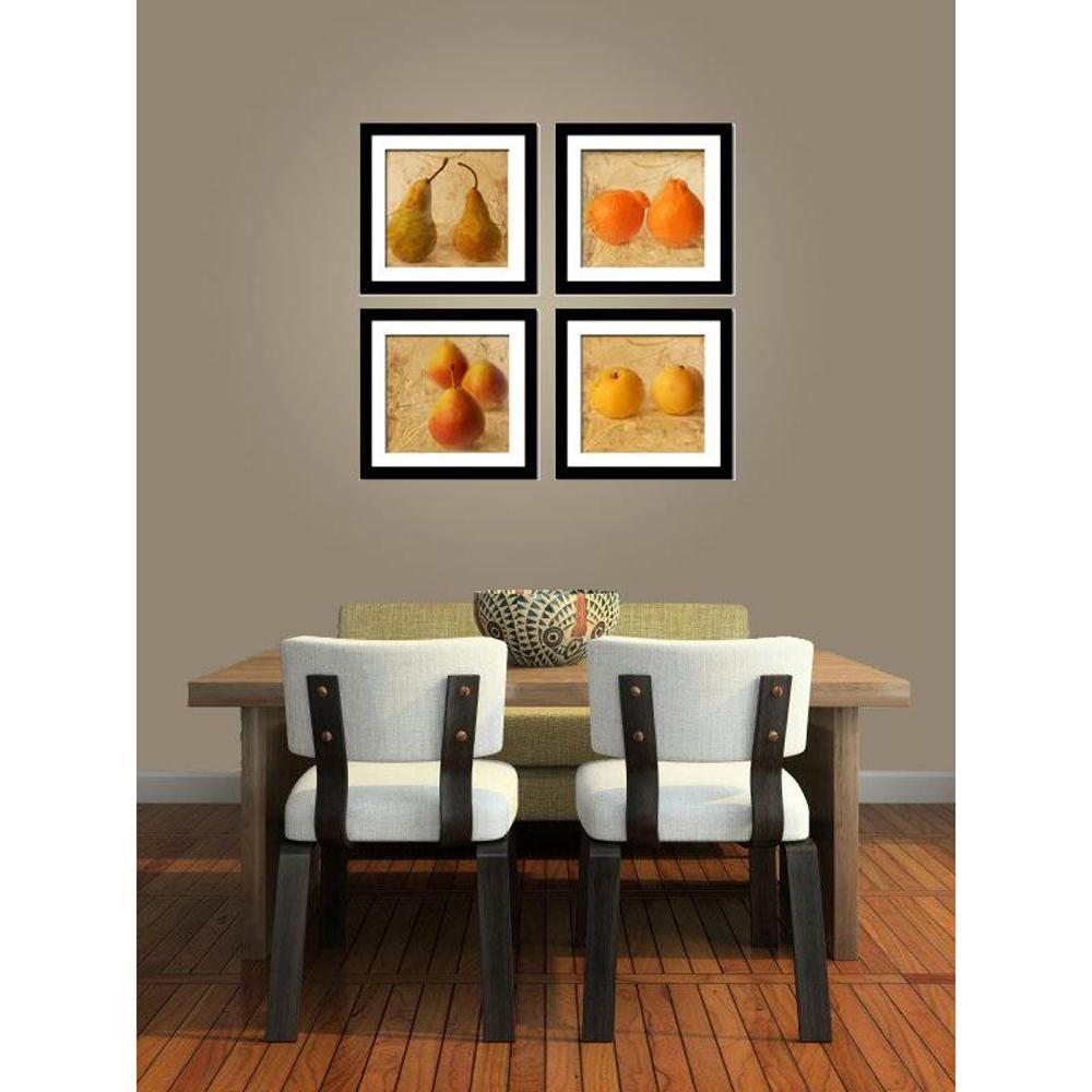 """Four 10 in. x 10 in. """"Fruit Art"""" by Neeva Kedem"""