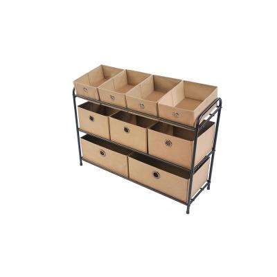4 in. x 14.5 in. 3-Cube Organizer in Taupe