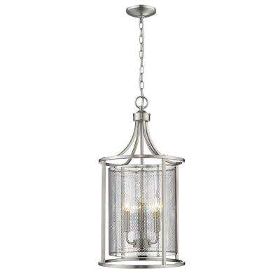 De Velde 3-Light Matte Nickel Chandelier
