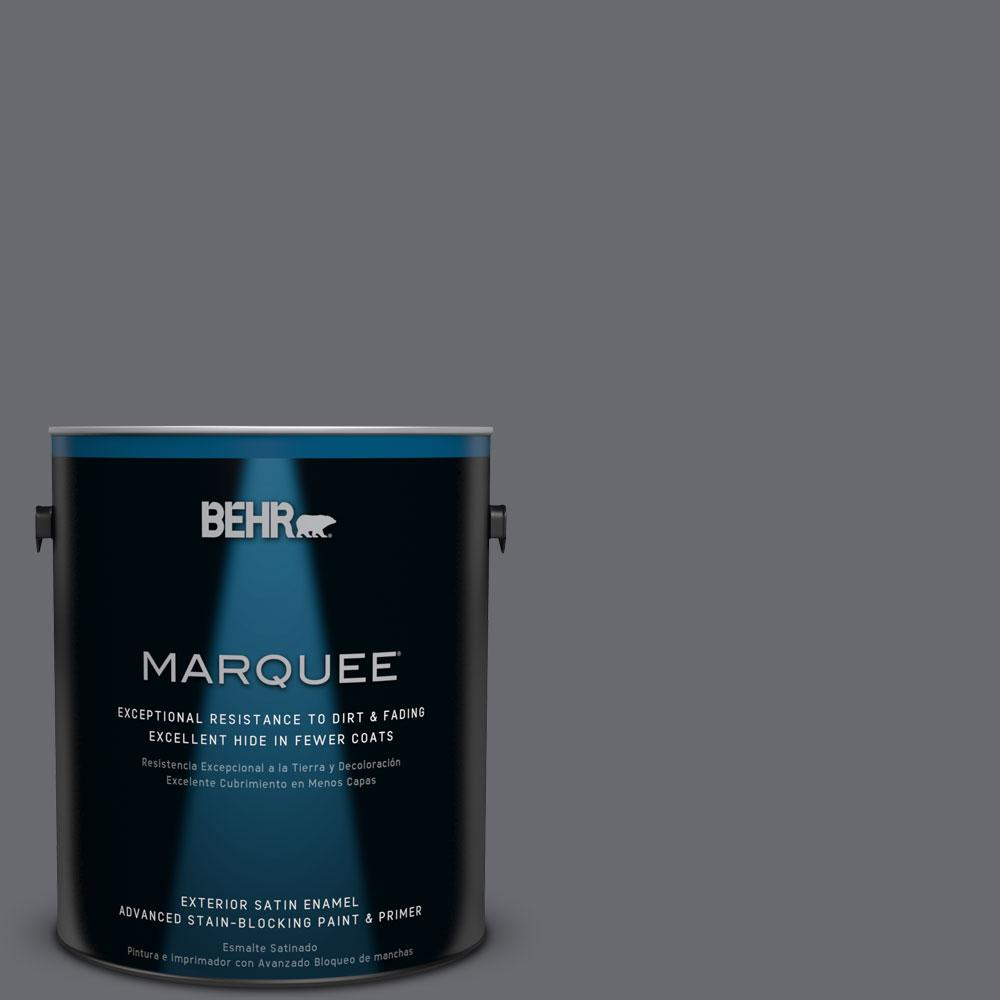 1 gal. #T16-15 Charcoal Plum Exterior Satin Enamel Paint
