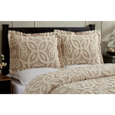 Eden Collection in Floral Design Tufted Chenille Comforter