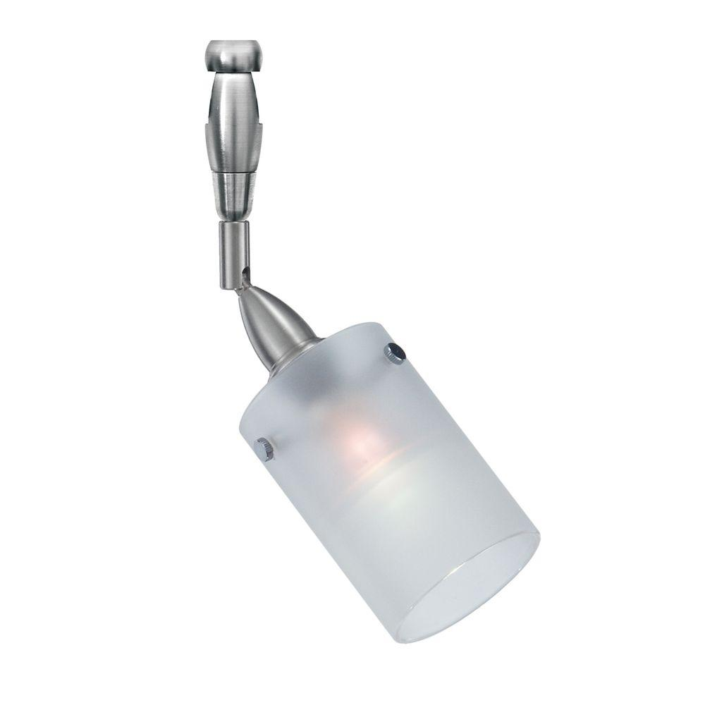 LBL Lighting Merlino Swivel II 1-Light Satin Nickel Frost Track Lighting Lamp Head Merlino Swivel II 1-Light Halogen Track Lighting Head easily blends with your home's existing decor. This is a low-voltage head. This satin nickel, frosted glass fixture combines function and style.