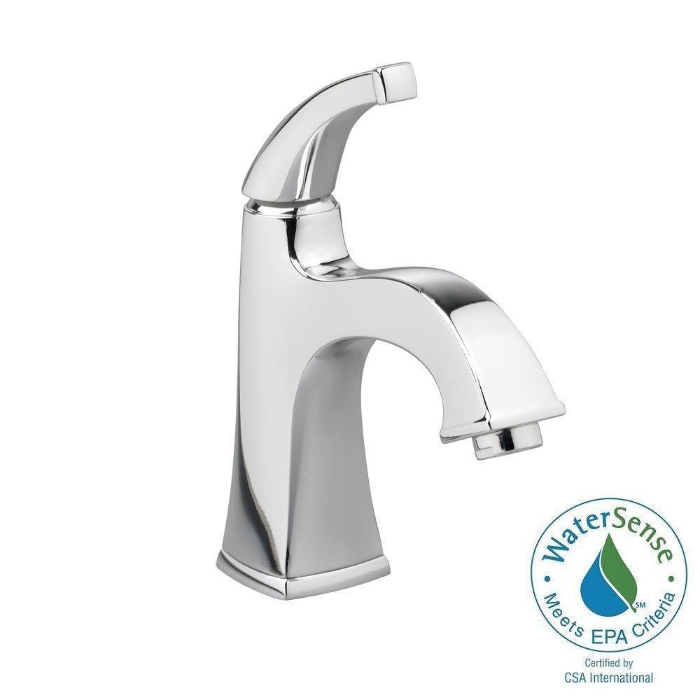 Town Square Monoblock Single Hole Single Handle Mid-Arc Bathroom Faucet in Polished Chrome