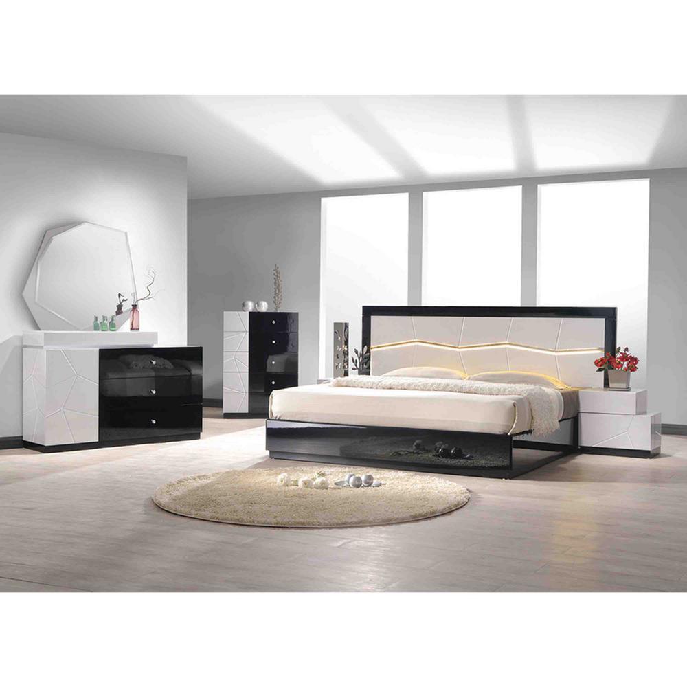 berlin california king modern lacquer platform bed