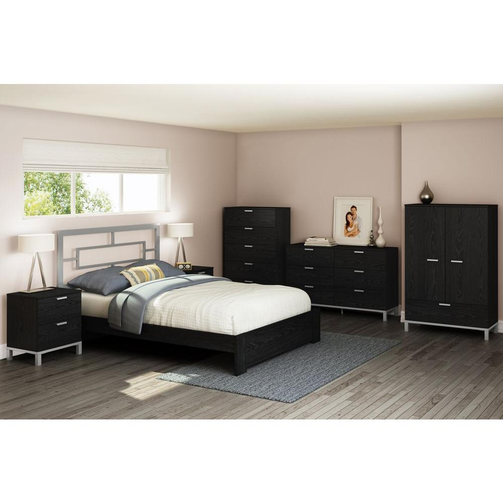 South Shore Flexible 6-Drawer Black Oak Dresser