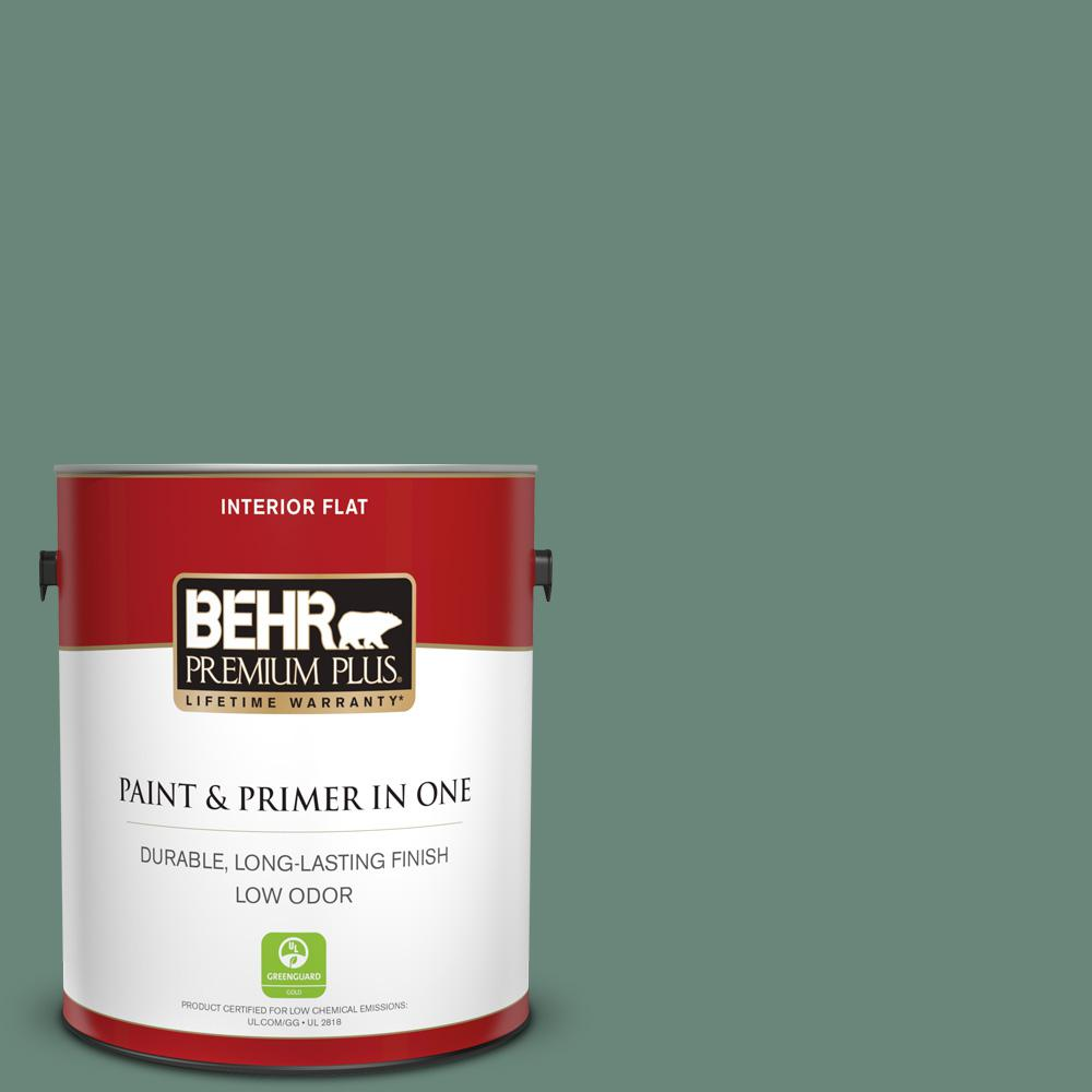 Reviews For Behr Premium Plus 1 Gal S420 5 Sycamore Grove Flat Low Odor Interior Paint And Primer In One 130001 The Home Depot