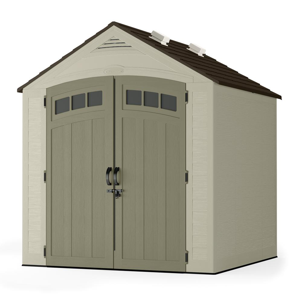 Suncast Vista 7 Ft. X 7 Ft. Resin Storage Shed-BMS7702