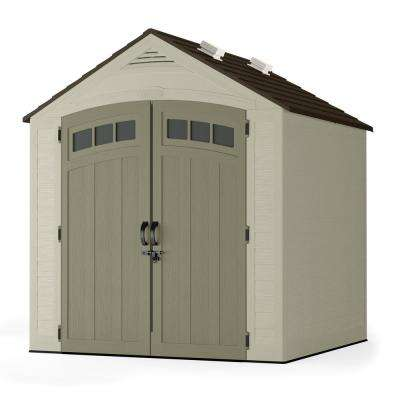 Vista 7 ft. 4 in. x 7 ft. 1.25 in. Resin Storage Shed