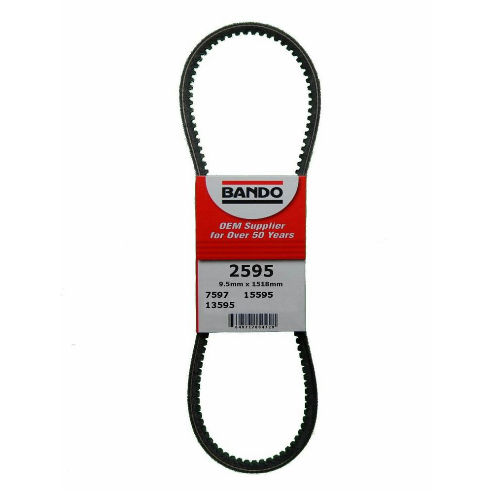 Bando Rpf Precision Engineered Raw Edge Cogged V Belt Fan And Alternator 2595 The Home Depot