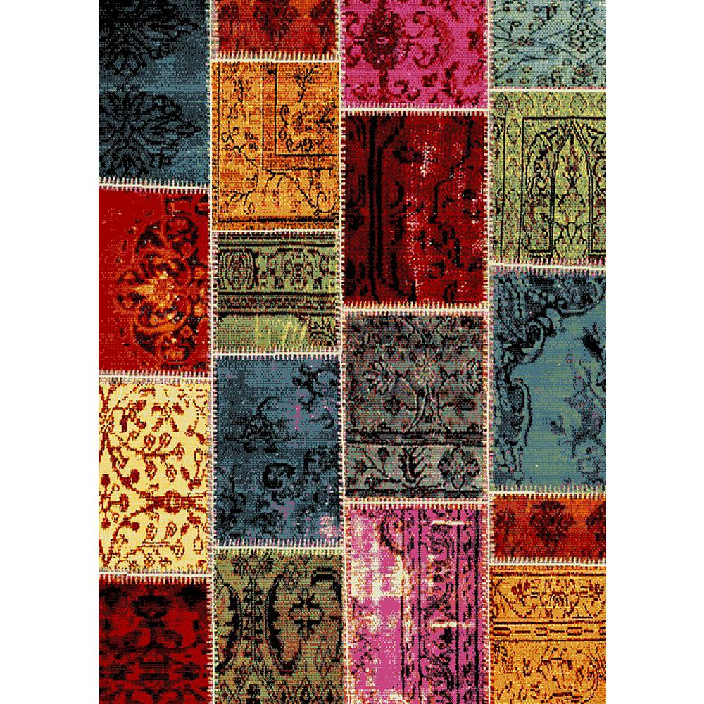 MAXY HOME Aiza Collection Multi-Colored 5 Ft. X 7 Ft. Area