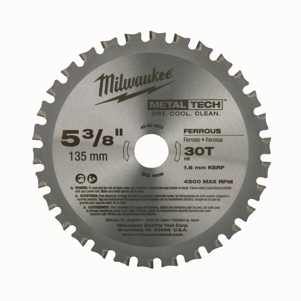 Milwaukee 5 38 in circular saw blade 48 40 4070 the home depot circular saw blade greentooth Choice Image