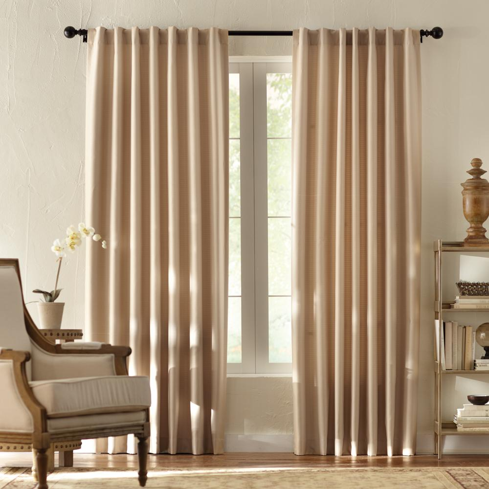Home Decorators Collection Textured Thermal Room Darkening Window Panel in Taupe - 42 in. W x 95 in. L