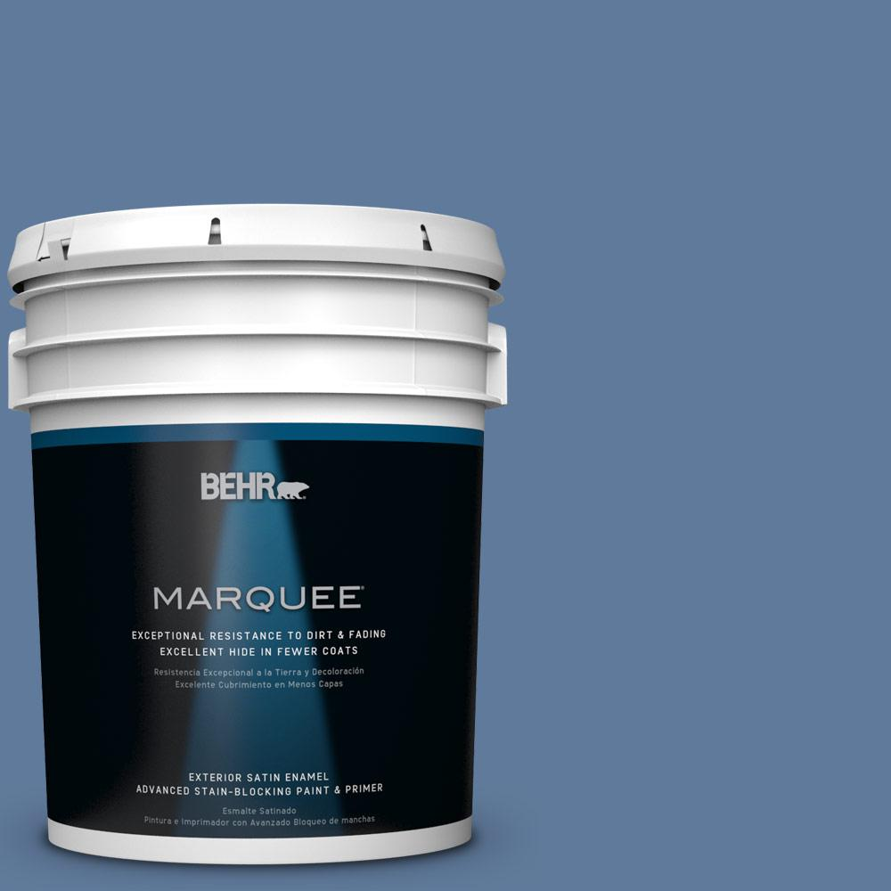 BEHR MARQUEE 5-gal. #PPU14-2 Glass Sapphire Satin Enamel Exterior Paint